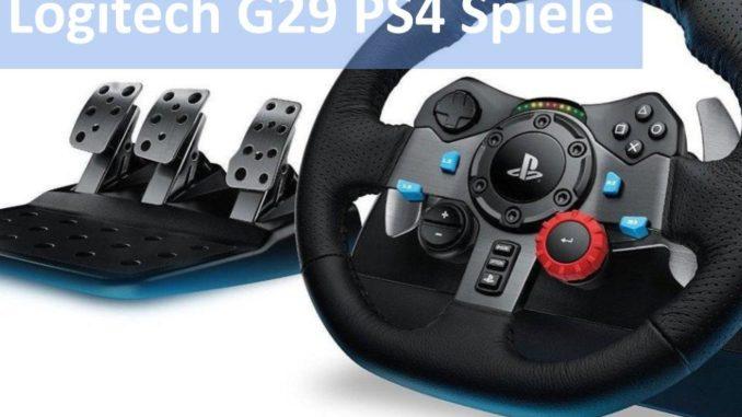 Bild vom Logitech G29 Spieleliste PS4