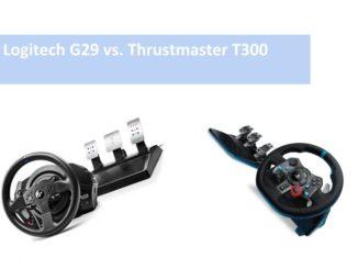 Logitech G29 vs. Thrustmaster T300