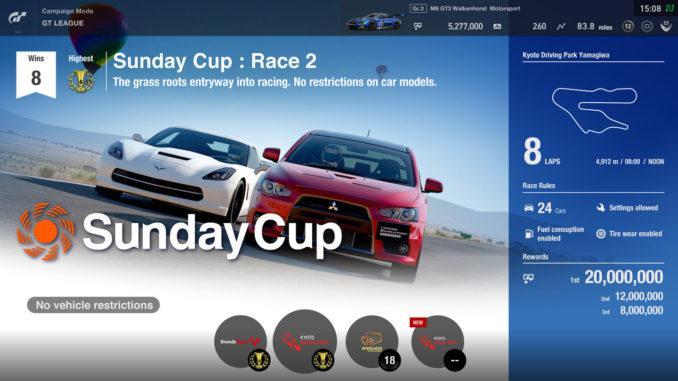 GT Sport Update - Patch Karrieremodus