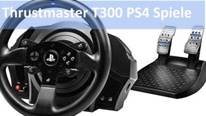 Bild vom Thrustmaster T300 Spieleliste PS4