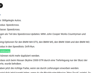Lenkrad Unterstützung für Need for Speed - Dezember Patch
