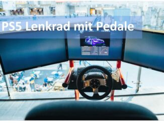 PS5 Lenkrad mit Pedale